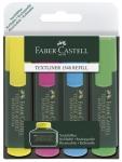 Korostuskynä Faber-Castell Textliner 48  värilajitelma 4kpl/pkt
