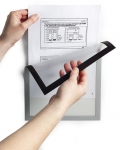 Magneettikehys Durable DuraFrame Magnetic A4  hopea 5kpl/pkt