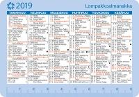 Taskukalenteri Lompakkoalmanakka 2019