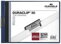 x Puristuskansio Duraclip 30 A4 vaaka sininen