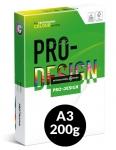 Värikopiopaperi PRO-DESIGN A3 200g 250ark/pkt