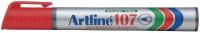 Huopakynä Artline 107 pyöreä 1,5mm punainen