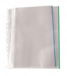 Patenttitasku A4 PP 0,17 kirkas app  sininen väriraita
