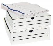 Arkistointiboxi Classic A4 8cm valkoinen