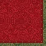 Lautasliina Duni 33x33cm 3-krs punainen joulu 50kpl/pkt