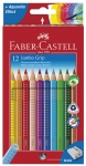 Värikynä Faber-Castell Grip Jumbo värilajitelma 12kpl/pkt