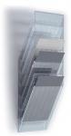 Seinäteline Durable FlexiBoxx 6-osainen A4 pysty kirkas