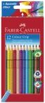 Värikynä Faber-Castell Grip värilajitelma 12kpl/pkt