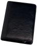 Asiakirjasalkku vetoketjulla musta nahka